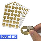 1'' Scratch Off Sticker Labels - Gold Round Circle, Pack of 150