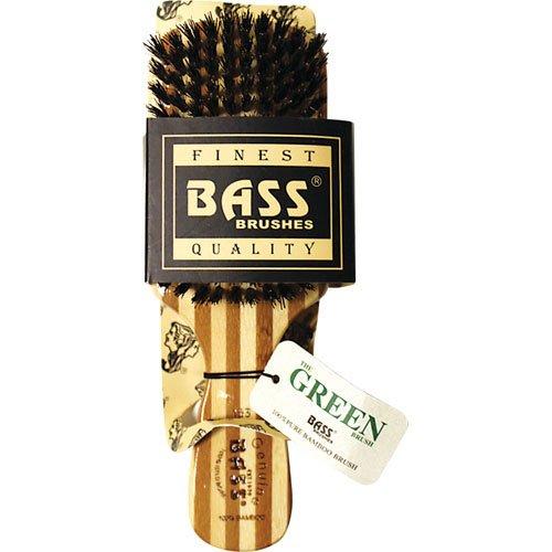 Club de Style de Bass Brosses Hommes Classique: 100% poils de sanglier, Lumière manche en bois