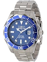 Invicta Men's 12563 Pro Diver Blue Carbon Fiber Dial Stainless Steel Watch