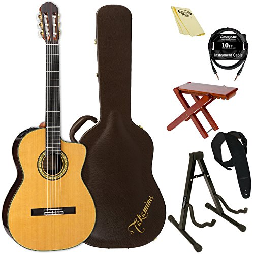 Takamine TH5C-KIT-2 Classical Nylon String Acoustic Guitar with Hard Case & ChromaCast Accessories