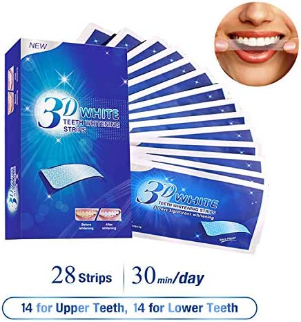 LSQtronics Professional Teeth Whitening Strips, Advanced 3D Teeth Whitening Kit 28 Pcs (14 x 2), Remove Teeth Stains, Fast Acting Whitening Effects For A Brighter Smile!