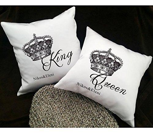 Couple Pillow Covers - Couples Pillowcases - His and Hers Pillow Cover - Pillowcases for Couples - King Queen Pillows - Love Pillow Cases - - Dr Mall Vegas Las