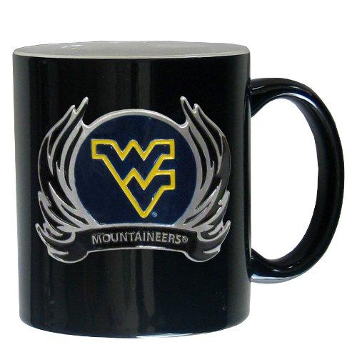West Virginia Mountaineers Ceramic - NCAA West Virginia Mountaineers Ceramic Coffee Mug with Flame Logo