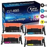 Compatible (4-Pack) 406S CLT-K406S CLT-C406S CLT-M406S CLT-Y406S CLT-406S Toner Cartridge for Samsung CLP-365W 367W CLX-3305FW 3307FW 3306W 3306FN 3306FW Printer (BK+C+M+Y), by EasyPrint