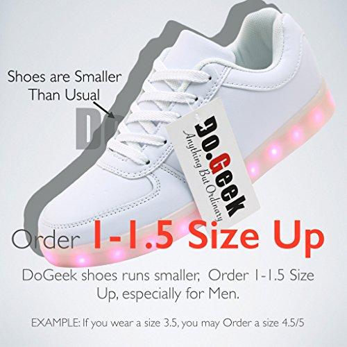 Dogeek Design Charge Led Cadeaux Mode 1 Femmes Blanc Couleurs Basket Chaussure Sport Lumineuse Noël Nouveau Modèles 12 Super Hommes Usb r8ZrqU