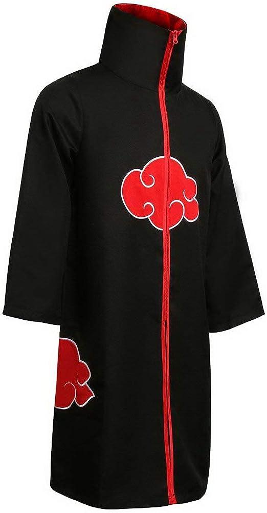 Anime Naruto Akatsuki Itachi Uchiha Cloak Cosplay Costume Unisex Shinobi Set