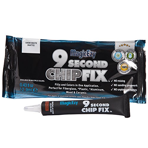 (MagicEzy 9 Second Chip Fix (Forest Green) - One part Gelcoat Repair Kit Fixes & Colors Chips, Scrapes & Drill Holes Fast - Structural Grade Adhesion Guaranteed)