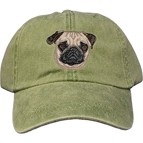 Cherrybrook Dog Breed Embroidered Adams Cotton Twill Caps - Spruce - ()