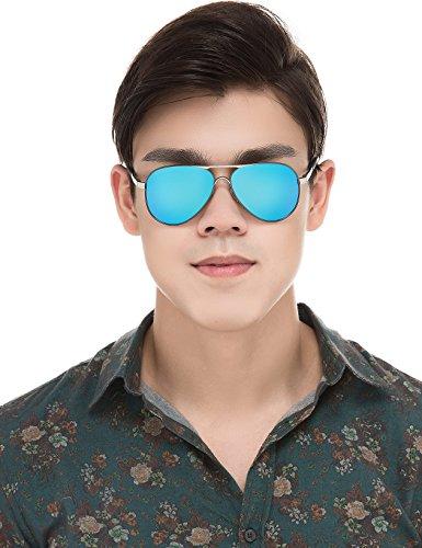 BAVIRON Mens Aviator Sunglasses Polarized Military Mirrored Pilot Retro Glasses - Best Use Military Sunglasses For