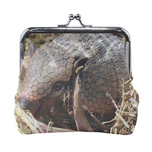 Rh Studio Coin Purse Long-haired Armadillo Armadillo Mammal Baby Grass Hay Print Wallet Exquisite Clasp Coin Purse Girls Women Clutch Handbag