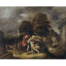 High Quality Polyster Canvas ,the Best Price Art Decorative Canvas Prints Of Oil Painting 'Francken Frans II Lucha De Jacob Con El Angel ', 30 X 37 Inch / 76 X 95 Cm Is Best For Kids Room Decoration And Home Artwork And Gifts