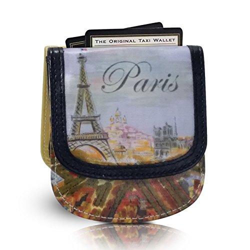 TAXI WALLET Paris Small VEGAN Folding Minimalist Card Wallet for Women Coin Purse