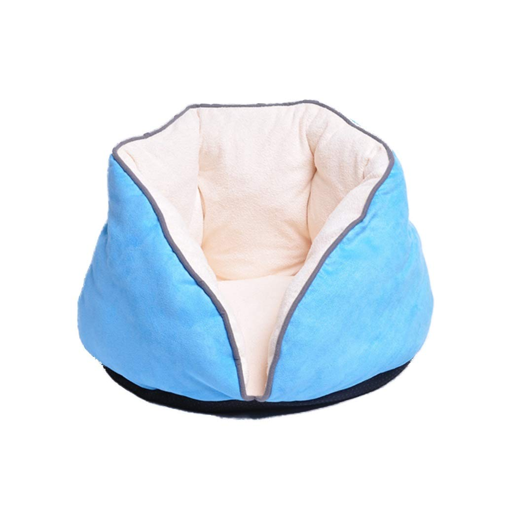 bluee M bluee M Deluxe Soft Semi-Enclosed Cat Bed-Multiple colors, Sizes, and Styles Available,Self Warming and Breathable Pet Bed Premium (color   bluee, Size   M)