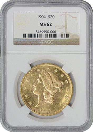 1904 Twenty Dollar Liberty Gold MS62 NGC