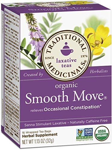 Traditional Medicinals Herbal Teas, Organic Smooth Move, 16 Tea Bags (Pack of 3) - incensecentral.us