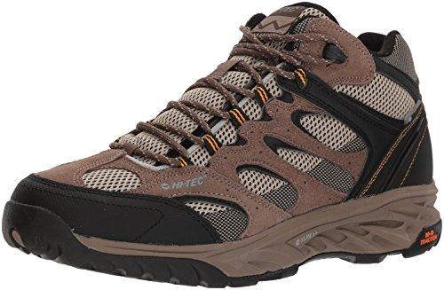 Hi-Tec Men's V-LITE Wild-FIRE MID I Waterproof Hiking Boot, Taupe/Dune/core Gold, 070M Medium -