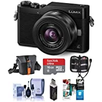 Panasonic Lumix DC-GX850 Mirrorless Digital Camera w/12-32mm Mega O.I.S. Lens, Black - Bundle With Holster Case, 16GB MicroSDHC Card, Cleaning Kit, Memory Wallet, Card Reader, Software Package