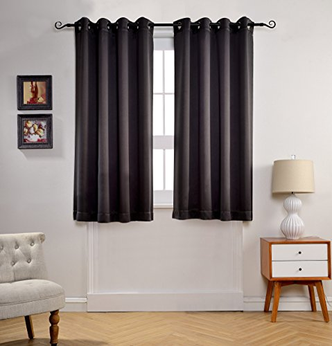 Save 11 mysky home solid grommet top thermal insulated window blackout curtains for living - Amazon curtains living room ...