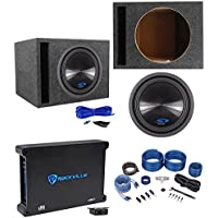 Alpine Type-S SWS-12D4 12 1500w Subwoofer+Vented Sub Box+Mono Amplifier+Amp Kit