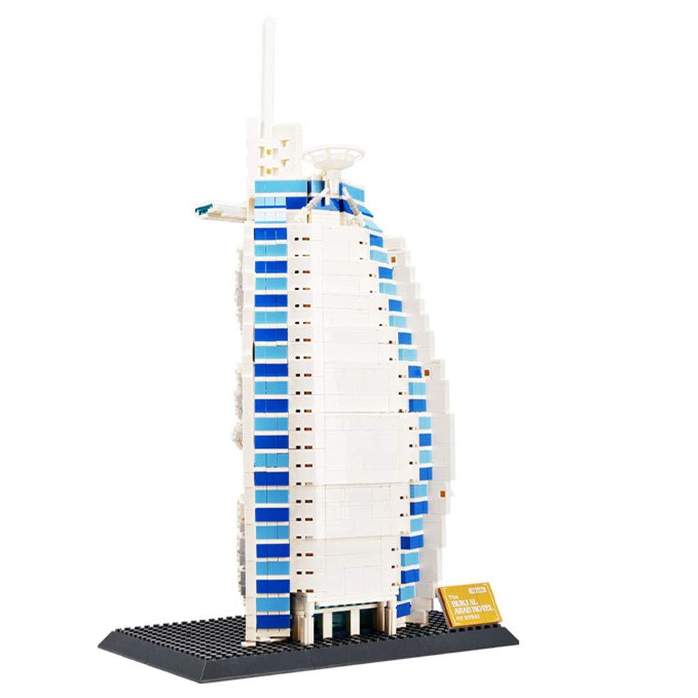 お買い得モデル 子供のおもちゃ、DIY教育用おもちゃ ビルディングブロック 6、世界的に有名な建物のブロックを構築する(6歳以上に適しています) B07K75P5HB 6 6, ブランドストリートブラスト:703e0cbd --- svecha37.ru