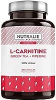 L-Carnitine Natuurlijke | Veganistische Krachtige Vetverbrander voor Gewichtsverlies met L-Carnitine, Natuurlijke Groene...