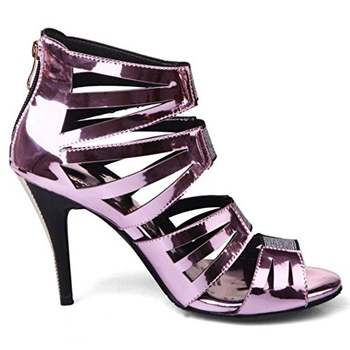 Purple Women Heels Sandals Fashion pink Peep Taoffen Toe YwpqwR