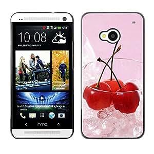 Paccase / SLIM PC / Aliminium Casa Carcasa Funda Case Cover - Fruit Macro Ice Cherry - HTC One M7