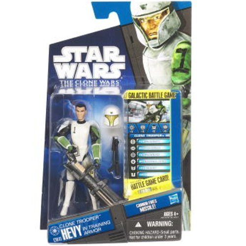 Star Wars: The Clone Wars CW41 Clone Trooper Hevy in Training Armor 3.75in Action Figure