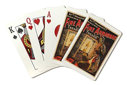 (Fine Armagnac Vintage Poster (artist: Oge) France c. 1902 (Playing Card Deck - 52 Card Poker Size with Jokers))