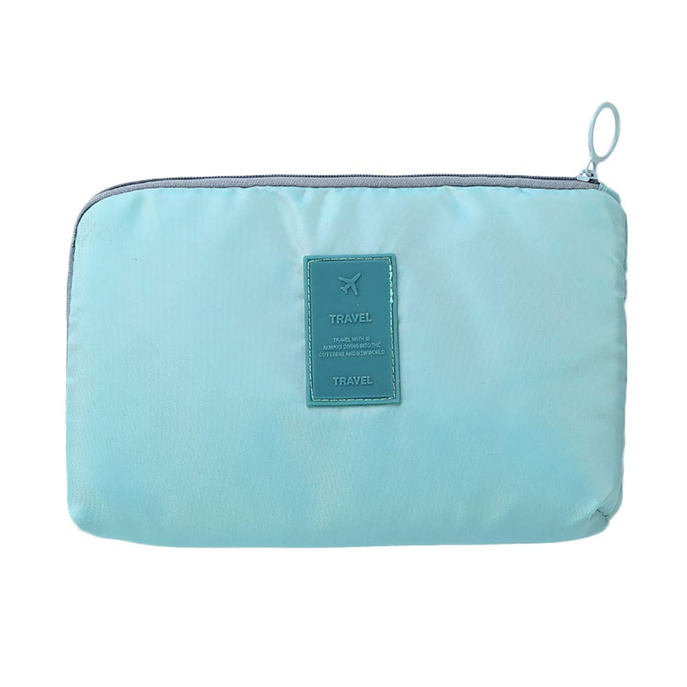 Women's Girl's Storage Bag Clearance, Iuhan Travel Business Digital Receive Package Waterproof Multi-function Storage Bag (Light blue)