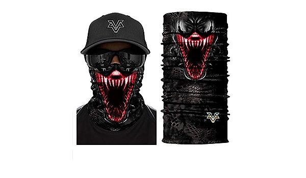 MEEKIS 3D Spiderman Face Shield Venom Neck Gaiter Deadpool Tube Bufanda A Prueba de Viento Diadema Cosplay M/áscara Facial M/áscara de esqu/í Skull Headwears