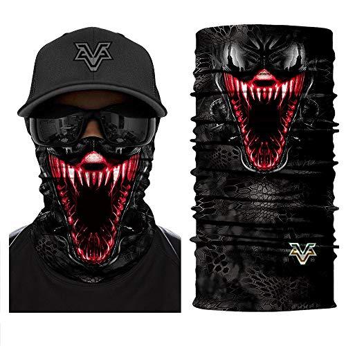 Bandana 3D Devil Venom Spider Masks Scarfs Movie Scarf Mask Tube Neck Face Lower Half Shield Sun Air Soft Hiking Paintball Headwear No.217]()