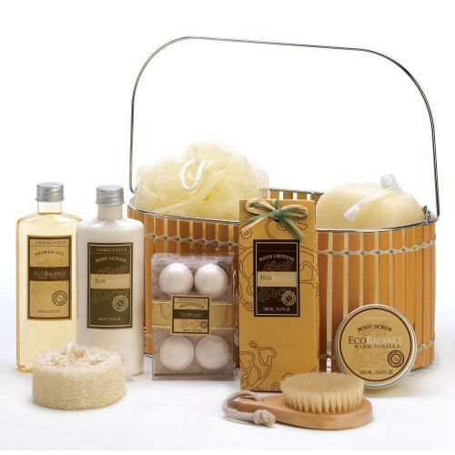 VERDUGO GIFT CO Warm Vanilla Spa Basket by VERDUGO GIFT