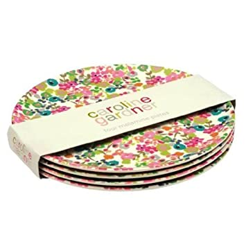 Caroline Gardner Melamine Plates Set of 4 Amazon.co.uk Kitchen \u0026 Home  sc 1 st  Amazon UK & Caroline Gardner Melamine Plates Set of 4: Amazon.co.uk: Kitchen ...