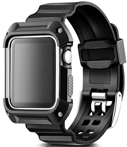 - Apple Watch Band 42mm Case. Sport Accessories for Men and Women. Durable Protective Case Save Your Apple Watch Black/Silver 42mm. Apple Watch Band 42mm Case for Series 1/2/3 (Black White)