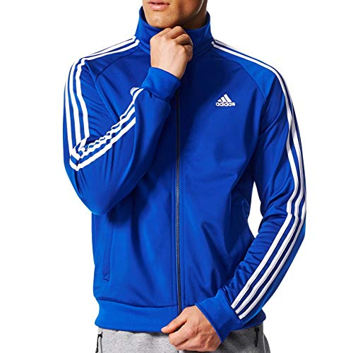adidas Essentials 3S Tricot Track Jacket Men's All Sports 2XL Collegiate Royal-White ()