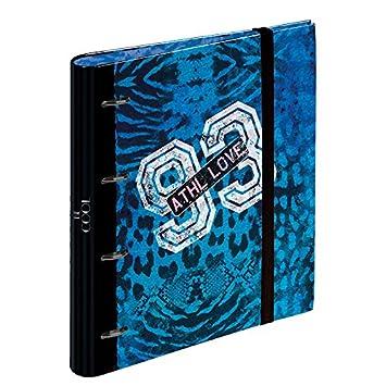 Busquets - Carpeta anillas recambio becool azul: Amazon.es: Oficina y papelería
