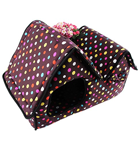 Demarkt Fleece Abnehmbare Kissen Schlafmatte Haustier Hund Hundehütte Zwinger (lila)