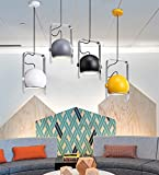 ZYANZ- Continental Simple Bedroom Restaurant Creative Personality Bar Color Hanging Lighting ( Color : Lime white )
