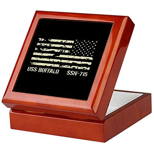 (CafePress - USS Buffalo - Keepsake Box, Finished Hardwood Jewelry Box, Velvet Lined Memento Box)