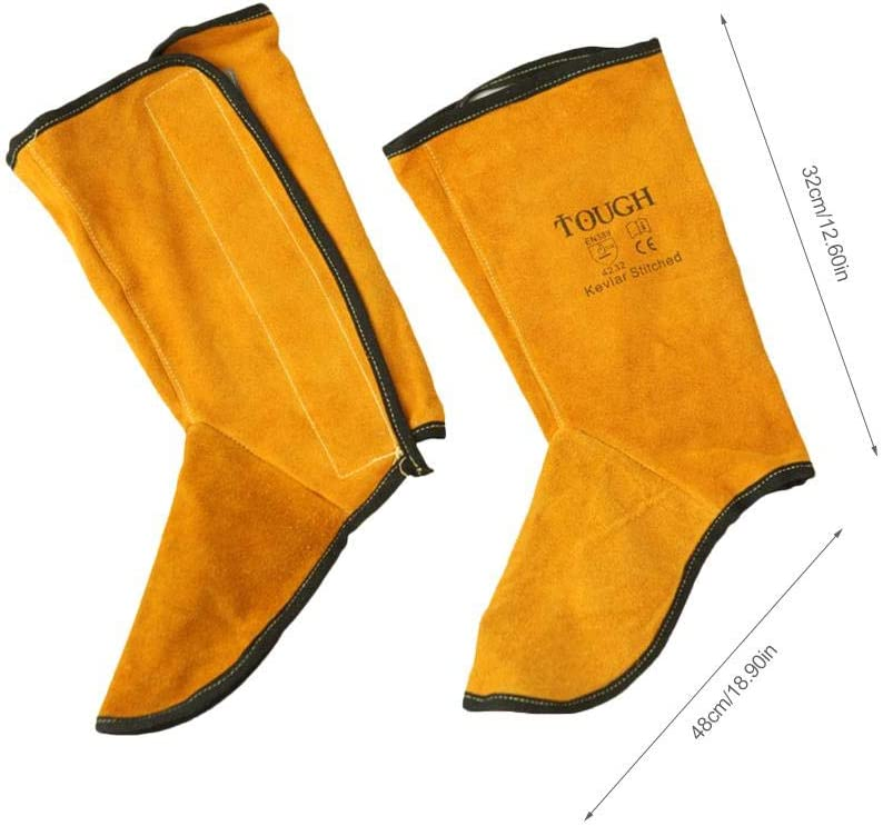Foot Cover Foot Protector Shoe Cover Pure Leather Welding Foot Wear Fireproof Flower Splash Protection sweetyhomes Welder Foot Leggings