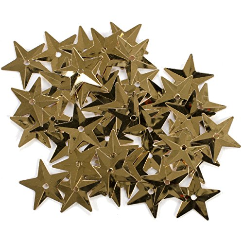 Darice 1003522 Star Sequins, 18mm, Gold, ()