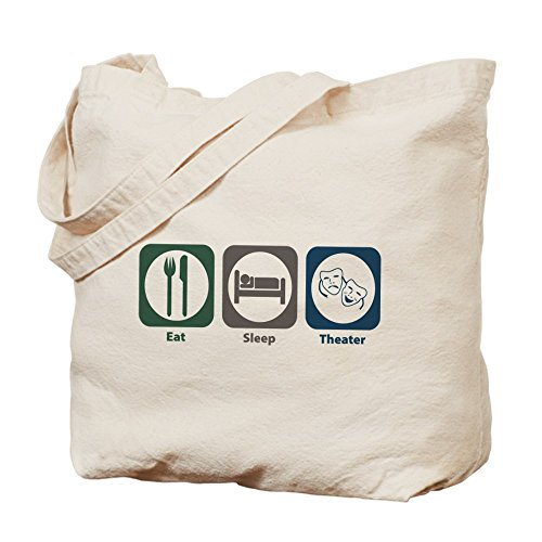 CafePress–Eat Sleep Theater–Borsa di tela naturale, panno borsa per la spesa