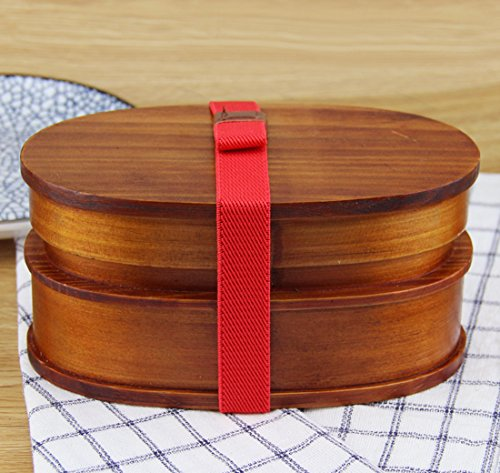 MDRW-Wooden Creative Lunch Boxes Sushi Snacks Lunch Boxes Lunch Boxes Double-Deck