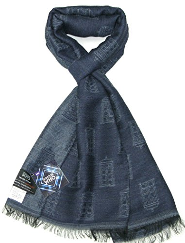 - Tardis Blue Scarf - Official BBC Doctor Who Scarf by LOVARZI - Memorabilia Gift
