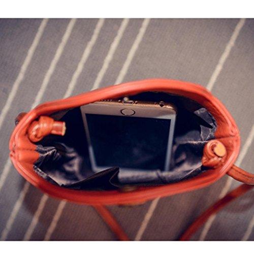 Women Messenger Crossbody Orange Bags Shoulder Bags Small Slim Handbag KESEE UqE7W