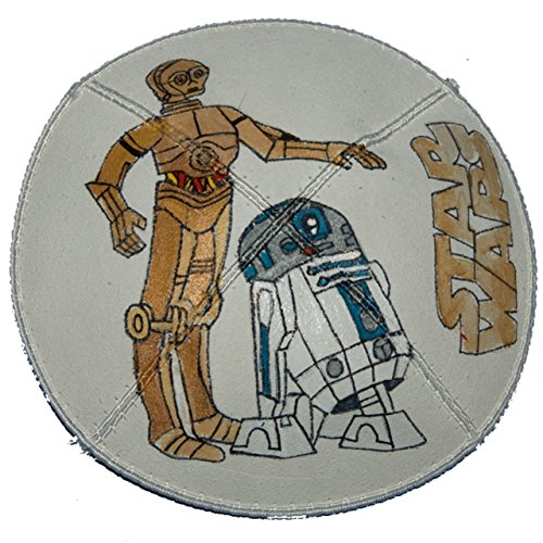 Hand-painted Kippah (Yarmulke) with Star Wars 3CPO and R2D2