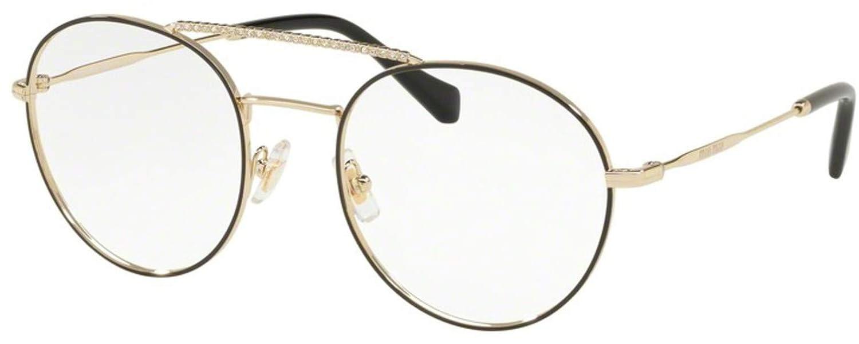 1c039c57ebf Miu Miu VMU 51R BLACK PALE GOLD women Eyewear Frames  Amazon.co.uk  Shoes    Bags