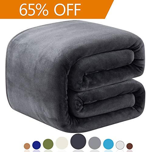 Richave Fleece Blankets Queen Size 350GSM Lightweight Throw for The Bed Extra Soft Brush Fabric Super Warm Sofa Blanket 90