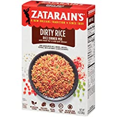Zatarain's Dirty Rice Mix brings authentic New Orleans-style flavor right to your kitchen. This original South Louisiana rice mix features long grain white rice, onion and bell peppers with authentic Cajun seasoning with spices like red peppe...